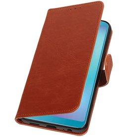 Pull Up Bookstyle für Samsung Galaxy A6s Brown