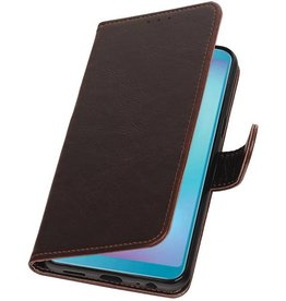Pull Up Bookstyle für Samsung Galaxy A6s Mocca