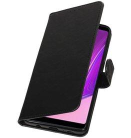 Pull Up Bookstyle für Samsung Galaxy A9 2018 Schwarz