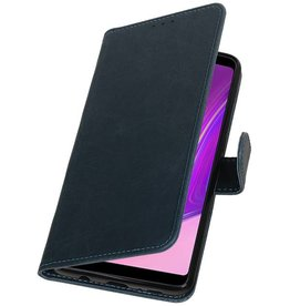 Pull Up Bookstyle for Samsung Galaxy A9 2018 Blue