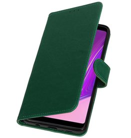 Pull Up Bookstyle for Samsung Galaxy A9 2018 Green