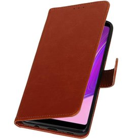 Pull Up Bookstyle for Samsung Galaxy A9 2018 Brown