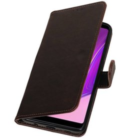 Pull Up Bookstyle für Samsung Galaxy A9 2018 Mocca