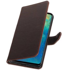 Pull Up Bookstyle voor Huawei Mate 20 Mocca