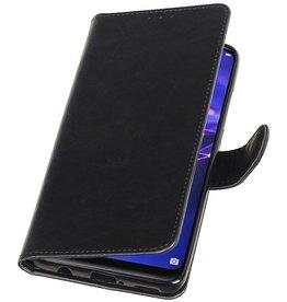 Pull Up Bookstyle voor Huawei Mate 20 Lite Zwart