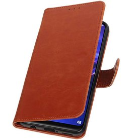 Pull Up Bookstyle für Huawei Mate 20 Lite Brown