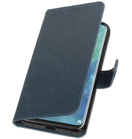 Pull Up Bookstyle voor Huawei Mate 20 Pro Blauw