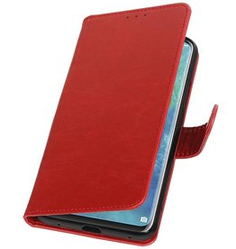 Pull Up Bookstyle voor Huawei Mate 20 Pro Rood