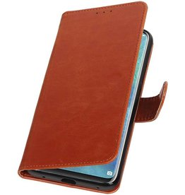 Pull Up Bookstyle for Huawei Mate 20 Pro Brown