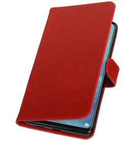 Pull Up Bookstyle voor Huawei Mate 20 X Rood