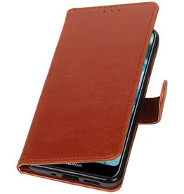 Pull Up Bookstyle for Nokia 7.1 Brown