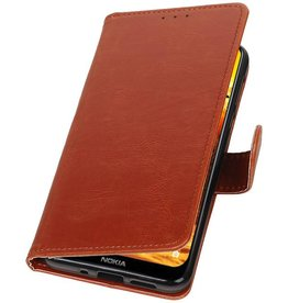 Pull Up Bookstyle for Nokia 8.1 Brown