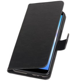 Pull Up Bookstyle for Samsung Galaxy J6 Plus Black