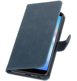 Pull Up Bookstyle voor Samsung Galaxy J6 Plus Blauw