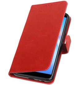Pull Up Bookstyle voor Samsung Galaxy J6 Plus Rood