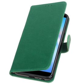 Pull Up Bookstyle voor Samsung Galaxy J6 Plus Groen