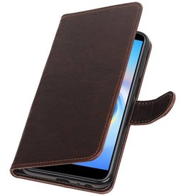 Pull Up Bookstyle voor Samsung Galaxy J6 Plus Mocca