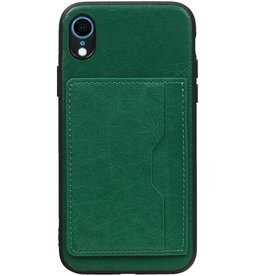 Standing Back Cover 1 Passes for iPhone XR Green
