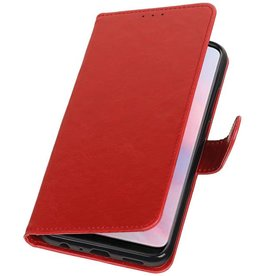 Pull Up Bookstyle voor Huawei Y9 2019 Rood