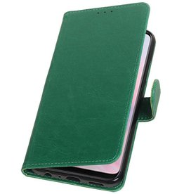 Pull Up Bookstyle voor Huawei Y9 2019 Groen
