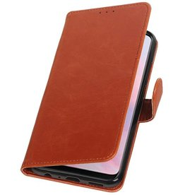 Pull Up Bookstyle voor Huawei Y9 2019 Bruin