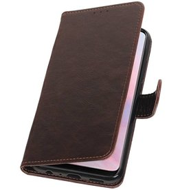 Pull Up Bookstyle für Huawei Y9 2019 Mocca