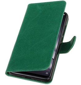Pull Up Bookstyle voor XiaoMi Mi 8 Lite Groen