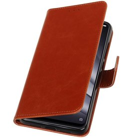 Pull Up Bookstyle for XiaoMi Mi 8 Lite Brown