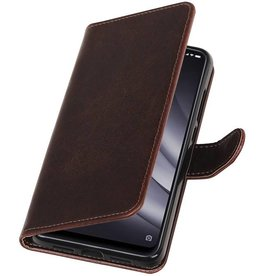 Pull Up Bookstyle voor XiaoMi Mi 8 Lite Mocca