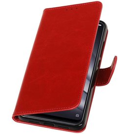 Pull Up Bookstyle for XiaoMi Mi 8 Lite Red
