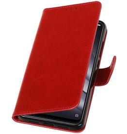 Pull Up Bookstyle voor XiaoMi Mi 8 Lite Rood