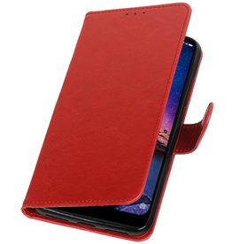 Pull Up Bookstyle for XiaoMi Redmi Note 6 Pro Red