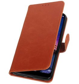 Pull Up Bookstyle for XiaoMi Redmi Note 6 Pro Brown