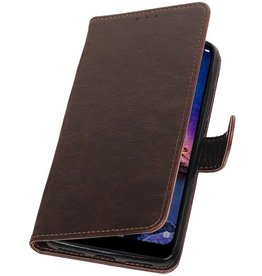 Pull Up Bookstyle for XiaoMi Redmi Note 6 Pro Mocca