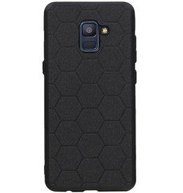 Hexagon Hard Case für Samsung Galaxy A8 Plus 2018 Schwarz