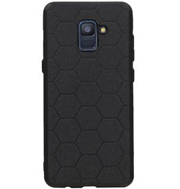 Hexagon Hard Case voor Samsung Galaxy A8 Plus 2018 Zwart