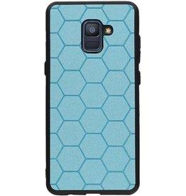 Hexagon Hard Case für Samsung Galaxy A8 Plus 2018 Blau