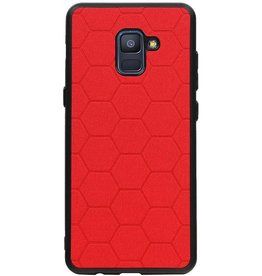 Hexagon Hard Case für Samsung Galaxy A8 Plus 2018 Rot