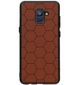 Hexagon Hard Case for Samsung Galaxy A8 Plus 2018 Brown