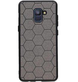 Hexagon Hard Case for Samsung Galaxy A8 Plus 2018 Gray