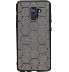 Hexagon Hard Case für Samsung Galaxy A8 Plus 2018 Grau
