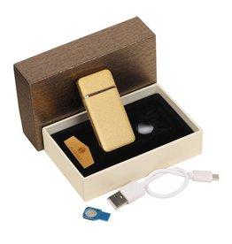 Elektrisches wiederaufladbares Feuerzeug Gold