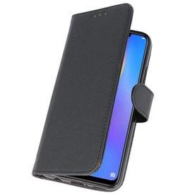 Bookstyle Wallet Cases Hülle für Huawei P Smart 2019 Schwarz