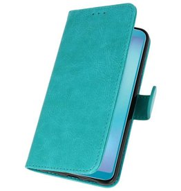 Bookstyle Wallet Cases Hoesje voor Galaxy A8s Groen
