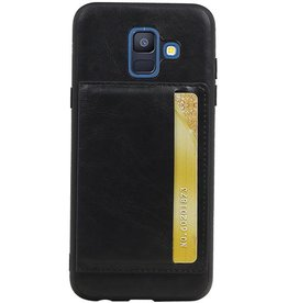 Portrait Back Cover 1 Cards for Galaxy A6 2018 Black