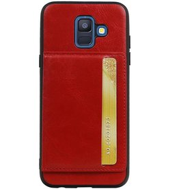 Portrait Back Cover 1 Cards for Galaxy A6 2018 Red