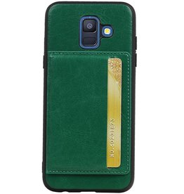 Portrait Back Cover 1 Cards for Galaxy A6 2018 Green