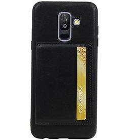 Portrait Back Cover 1 Cards for Galaxy A6 Plus 2018 Black