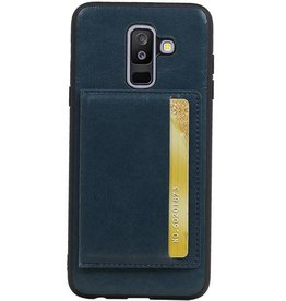 Standing Back Cover 1 Cards for Galaxy A6 Plus 2018 Navy