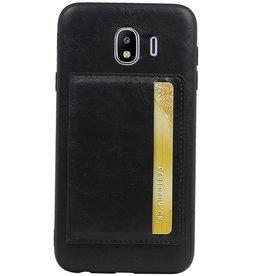 Staand Back Cover 1 Pasjes voor Galaxy J4 Zwart